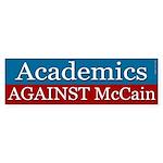 Academics against McCain bumper sticker
