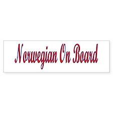 Norwegian On Board Bumper Bumper Sticker
