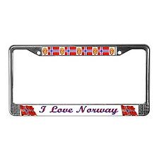I Love Norway License Plate Frame