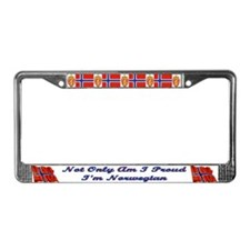Proud and Norwegian License Plate Frame