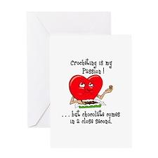 Crocheting and Chocolate Greeting Card