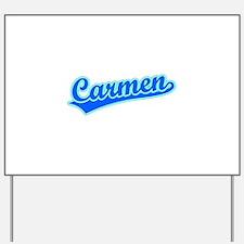 Retro Carmen (Blue) Yard Sign