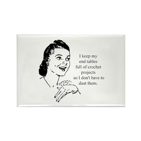 Crochet - Don't Dust Rectangle Magnet (100 pack)