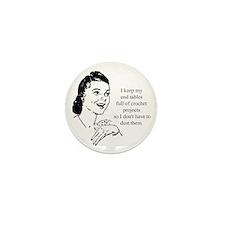 Crochet - Don't Dust Mini Button (10 pack)