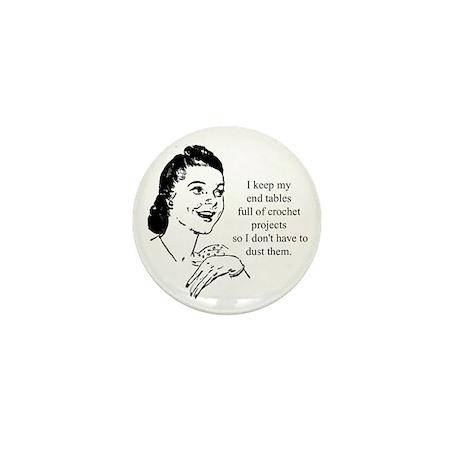 Crochet - Don't Dust Mini Button (100 pack)