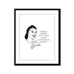 Crochet - Don't Dust Framed Panel Print