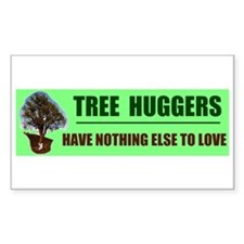 TREE HUGGERS Rectangle Decal