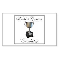 World's Best Crocheter Rectangle Decal