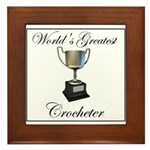 World's Best Crocheter Framed Tile