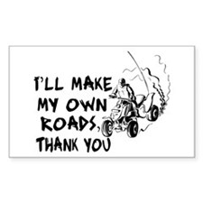 Make My Own Roads Rectangle Decal