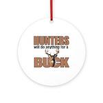 Hunters/Buck Ornament (Round)