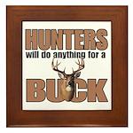 Hunters/Buck Framed Tile
