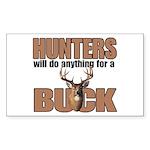 Hunters/Buck Rectangle Sticker