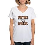 Hunters/Buck Women's V-Neck T-Shirt