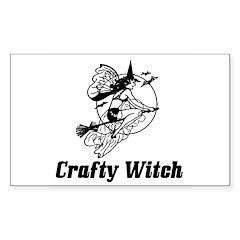 Crafty Witch Rectangle Sticker 50 pk)