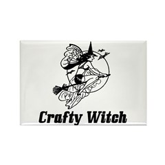 Crafty Witch Rectangle Magnet (10 pack)