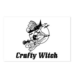 Crafty Witch Postcards (Package of 8)