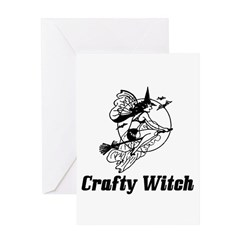 Crafty Witch Greeting Card