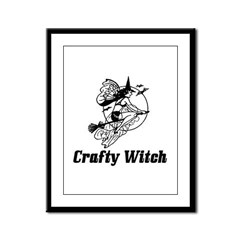 Crafty Witch Framed Panel Print