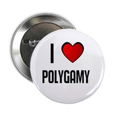 """I LOVE POLYGAMY 2.25"""" Button (100 pack)"""