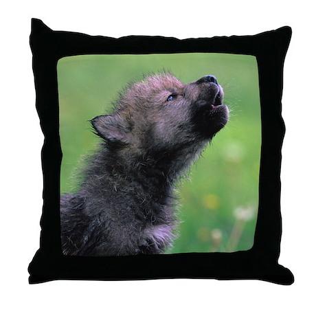 Wolf Cub Throw Pillow