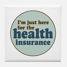 Health Insurance Tile Coaster