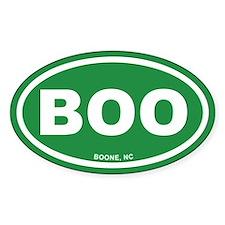 BOO Boone, NC Euro Green Oval Decal