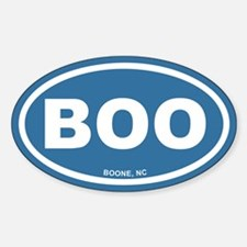 BOO Boone, NC Euro Blue Oval Decal