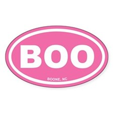BOO Boone, NC Euro Pink Oval Decal