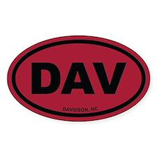 DAV Davidson, NC Euro Oval Decal