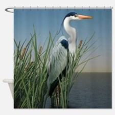 Heron Watch Shower Curtain