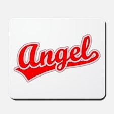 Retro Angel (Red) Mousepad