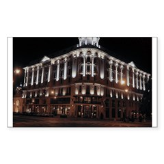 Warsaw At Night Rectangle Decal