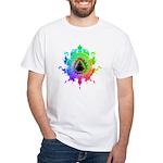 Eightfold Fractal White T-Shirt