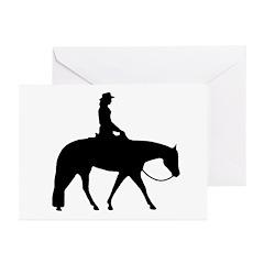 Western Pleasure Female Greeting Cards (Pk of 10)