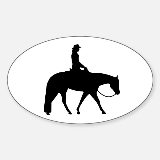Western Pleasure Female Oval Decal