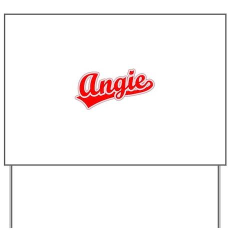 Retro Angie (Red) Yard Sign