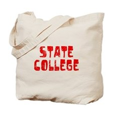 State College Faded (Red) Tote Bag
