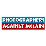 Photographers Against McCain bumper sticker