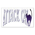 Attack Cat Rectangle Sticker