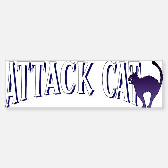 Attack Cat Bumper Bumper Bumper Sticker