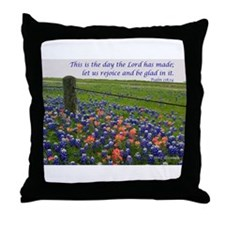 This is the day...Blue Bonnets Throw Pillow
