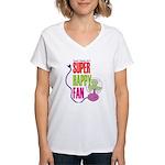 Super Happy Fan Women's V-Neck T-Shirt