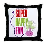 Super Happy Fan Throw Pillow