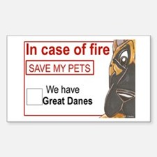 CFface Fire Rescue Rectangle Stickers