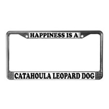 Happy Catahoula Leopard Dog License Plate Frame
