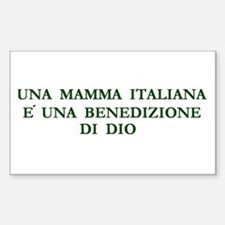 Italian Pride Rectangle Decal