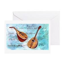Italian music Greeting Card