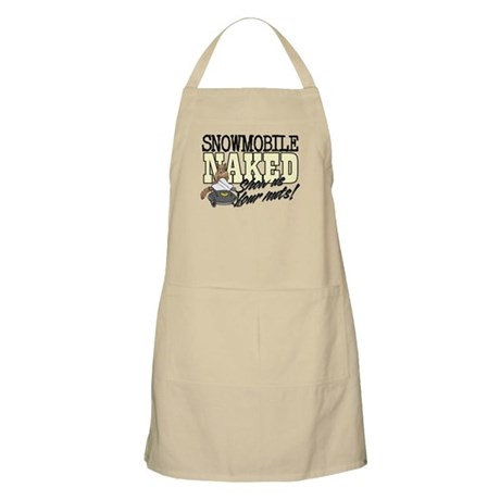 Snowmobile Naked Squirrel Apron