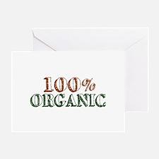 100% Organic Greeting Card
